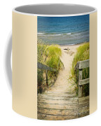 Wooden Stairs Over Dunes At Beach Coffee Mug