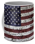 Wooden Textured U. S. A. Flag Coffee Mug