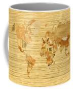 Wooden World Map 2 Coffee Mug