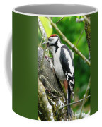 Woodpecker Swallowing A Cherry  Coffee Mug