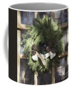 Wool And Feather Wreath Coffee Mug