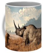 Woolly Rhino And A Marmot Coffee Mug