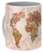 Word Map Digital Art Coffee Mug