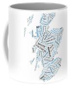Wordcloud Of Scotland Coffee Mug