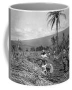 Workers Harvesting Sugar Cane Coffee Mug