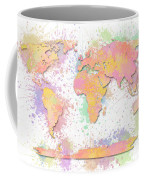 World Map 2 Digital Watercolor Painting Coffee Mug