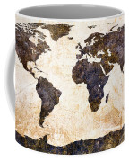 World Map Abstract Coffee Mug by Bob Orsillo