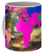 World Map And Human Life Coffee Mug