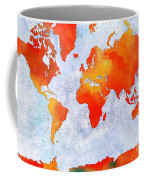 World Map - Citrus Passion - Abstract - Digital Painting 2 Coffee Mug