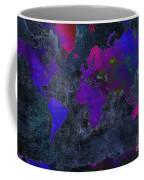 World Map - Purple Flip The Dark Night - Abstract - Digital Painting 2 Coffee Mug