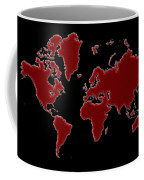 World Map Red Grid Coffee Mug