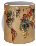 World Map Watercolor Painting 1 Coffee Mug
