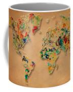 World Map Watercolor Painting 2 Coffee Mug