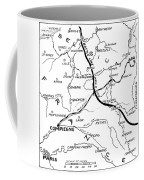 World War I Map, C1916 Coffee Mug