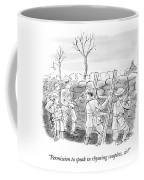 World War I Soldiers Fire From Behind Trenches Coffee Mug