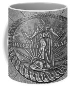 World War II Medallion Bw Coffee Mug