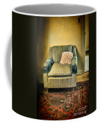Worn Chair By Doorway Coffee Mug