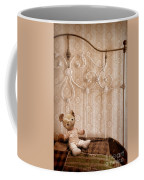 Worn Teddy Bear On Brass Bed Coffee Mug