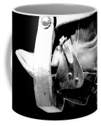 Worn Western Leather Boot With Spur In Stirrup Conte Crayon Black And White Digital Art Coffee Mug