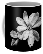 Wounded White Magnolia Wide Version Black And White Coffee Mug