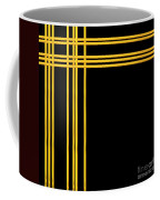 Woven 3d Look Golden Bars Abstract Coffee Mug