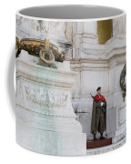 Wreath And Guard At The Tomb Of The Unknown Soldier Coffee Mug