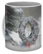 Wreath In A Snow Storm Coffee Mug