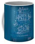 Wright Brothers Aero Engine Vintage Patent Blueprint Coffee Mug