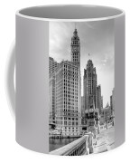 Wrigley And Tribune Coffee Mug by Scott Norris