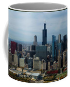 Wrigley And Us Cellular Fields Chicago Baseball Parks 3 Panel Composite 01 Coffee Mug by Thomas Woolworth