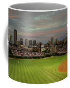 Wrigley Field At Dusk Coffee Mug by John Gaffen