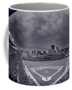 Wrigley Field Night Game Chicago Bw Coffee Mug