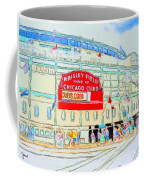 Wrigley Field Sketch Coffee Mug