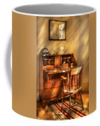 Writer - A Chair And A Desk Coffee Mug by Mike Savad