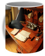 Writer - The Desk Of A Gentleman  Coffee Mug by Mike Savad