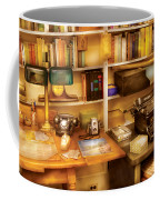 Writer - The Desk Of A Writer  Coffee Mug by Mike Savad