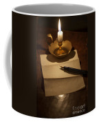 Writing A Letter By Candle Light Coffee Mug