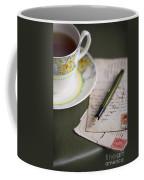 Writing A Post Card Coffee Mug