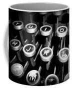 Writing The Great Novel - Black And White Coffee Mug