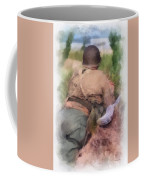 Ww II Us Army Soldier Photo Art Coffee Mug