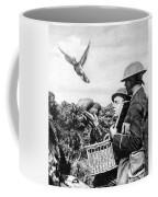 Wwi Releasing British Carrier Pigeon Coffee Mug