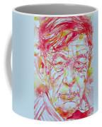 Wystan Auden  Watercolor Portrait Coffee Mug