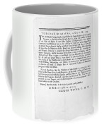 Wythe: Broadside, 1774 Coffee Mug