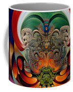 Xiuhcoatl The Fire Serpent Coffee Mug by Ricardo Chavez-Mendez