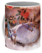 Xmas Skating Rink Photo Art Coffee Mug