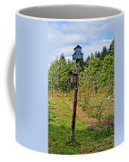 Yachats  Oregon - Blue Birdhouse Coffee Mug