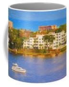 Yacht On The Water Coffee Mug