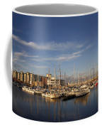 Yachts In A Marina At Sunset Coffee Mug
