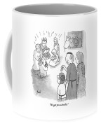Yamaka-wearing Man To Small Son Coffee Mug