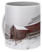 Yankee Farmlands No 19 - Winter Snow And New England Barn Coffee Mug